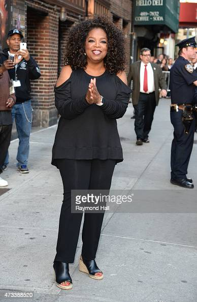 Oprah Winfrey is seen leaving the 'Ed Sullivan Theater' on May 14 2015 in New York City