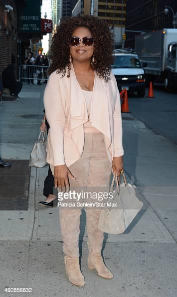Oprah Winfrey is seen on October 15 2015 in New York City