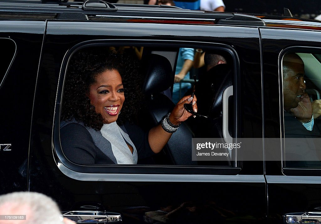 <a gi-track='captionPersonalityLinkClicked' href=/galleries/search?phrase=Oprah+Winfrey&family=editorial&specificpeople=171750 ng-click='$event.stopPropagation()'>Oprah Winfrey</a> leaves the 'Late Show with David Letterman' at Ed Sullivan Theater on July 31, 2013 in New York City.