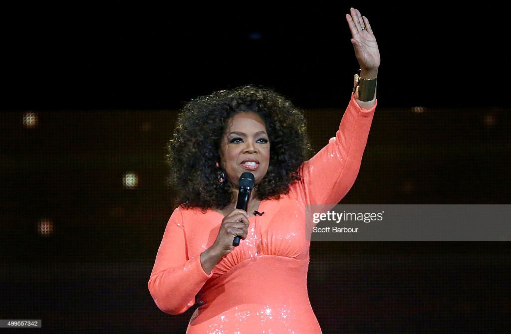 Oprah Winfrey on stage during her An Evening With Oprah tour on December 2, 2015 in Melbourne, Australia.