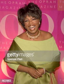 Oprah Winfrey poses April 17 2001 at a 1st anniversary party for O Magazine in New York