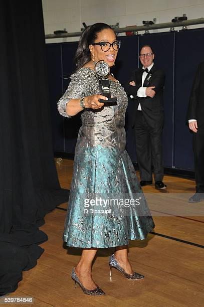 Oprah Winfrey poses in the press room at the 70th Annual Tony Awards at the Beacon Theatre on June 12 2016 in New York City