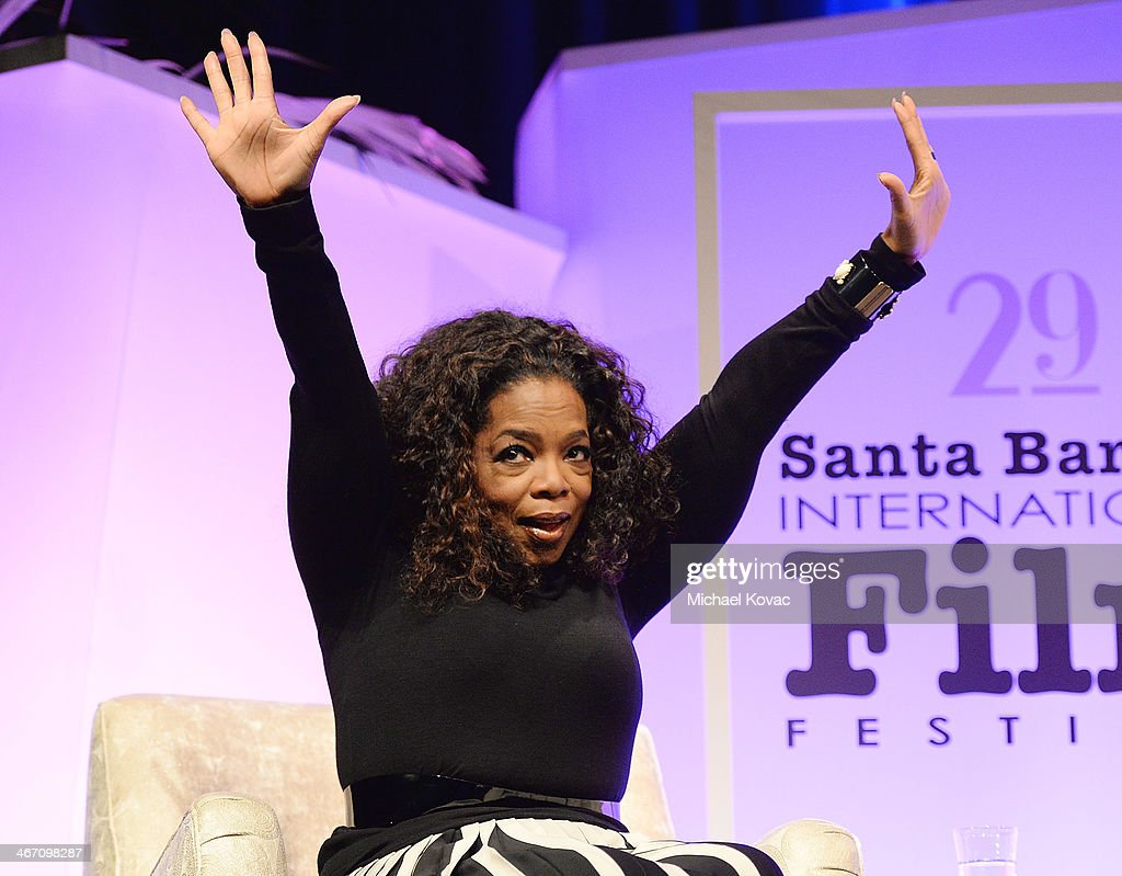 <a gi-track='captionPersonalityLinkClicked' href=/galleries/search?phrase=Oprah+Winfrey&family=editorial&specificpeople=171750 ng-click='$event.stopPropagation()'>Oprah Winfrey</a> presents onstage at The Santa Barbara International Film Festival at the Arlington Theatre on February 5, 2014 in Santa Barbara, California.