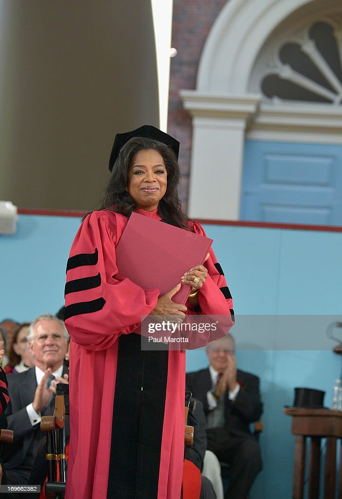 Oprah Winfrey receives an Honorary Doctor of Laws Degree at 2013 Harvard University 362nd Commencement Exercises at Harvard University on May 30, 2013 in Cambridge, Massachusetts.