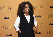 Oprah Winfrey speaks at the 'Belief' New York premiere at TheTimesCenter on October 14 2015 in New York City