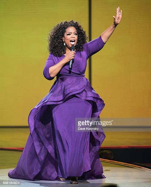 Oprah Winfrey speaks at the Oprah's The Life You Want Weekend Day 1 at Prudential Center on September 26 2014 in Newark New Jersey