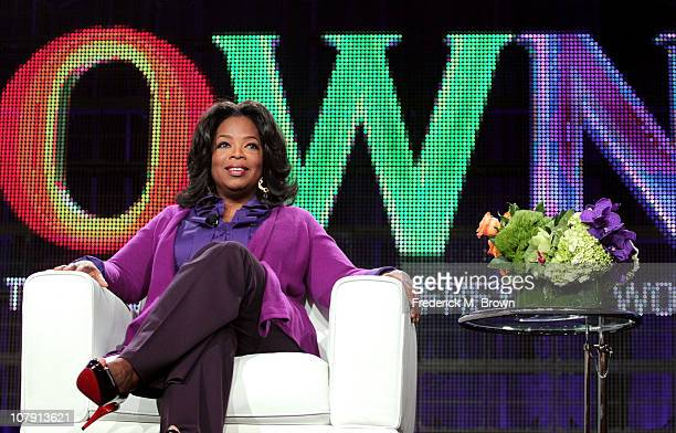 Oprah Winfrey speaks during the OWN Oprah Winfrey Network portion of the 2011 Winter TCA press tour held at the Langham Hotel on January 6 2011 in...