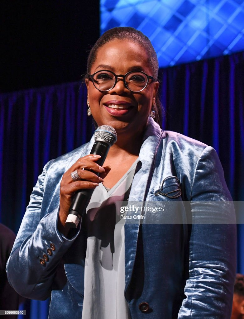 Oprah Winfrey speaks onstage at Ron Clark Academy 10 Year Celebration at The Ron Clark Academy on November 3, 2017 in Atlanta, Georgia.