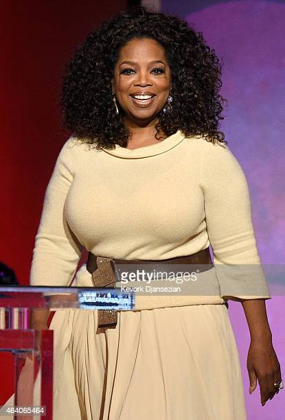 Oprah Winfrey speaks onstage during the 2015 Film Independent Spirit Awards at Santa Monica Beach on February 21 2015 in Santa Monica California