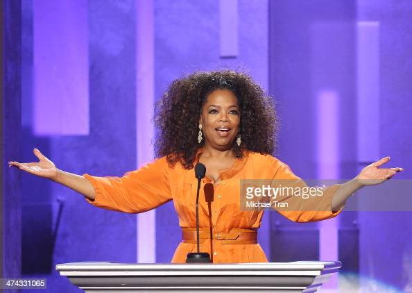 Oprah Winfrey speaks onstage during the 45th NAACP Image Awards held at Pasadena Civic Auditorium on February 22 2014 in Pasadena California