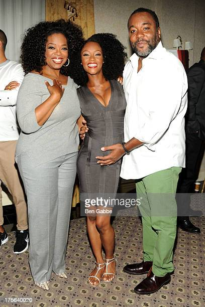 Oprah Winfrey Yaya Alafia and director Lee Daniels attend the press conference for The Weinstein Company's LEE DANIELS' THE BUTLER at Waldorf Astoria...