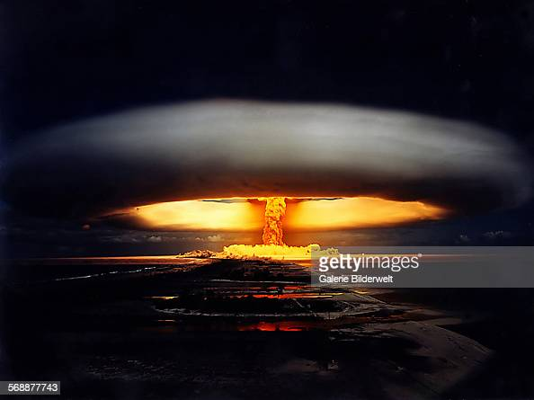 Opération Licorne nuclear test 22nd May1970 A 914 kiloton thermonuclear air burst Fangataufa French Polynesia Pacific