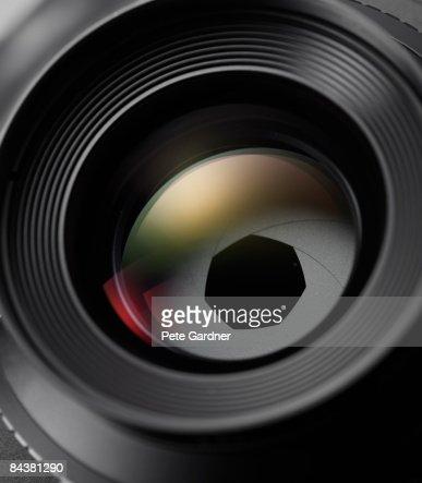 optical lens with iris