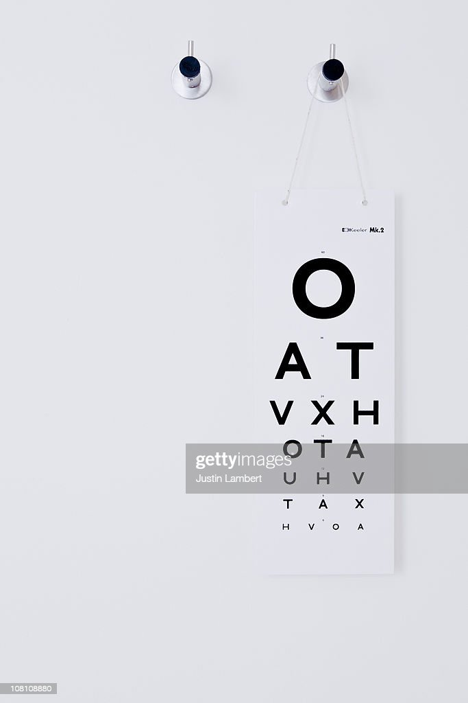 Opticians Test Chart : Stock Photo