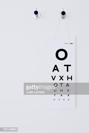 Opticians Test Chart : Foto stock