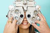 Optometrist Eye Exam Phoroptor