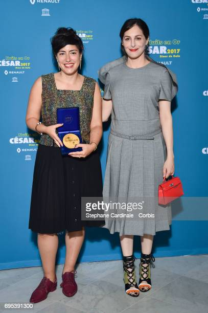 Or Sinai and Amira Casar attend 'Les Nuits en Or 2017' Dinner Gala at Unesco on June 12 2017 in Paris France