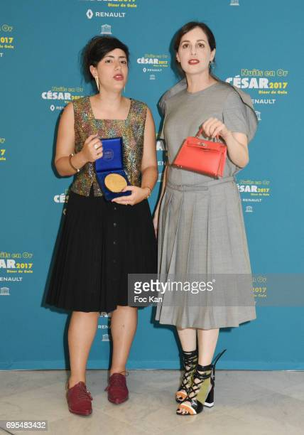 Or Sinai and Amira Casar attend 'Les Nuits en Or 2017' Dinner Gala Photocall at UNESCO on June 12 2017 in Paris France
