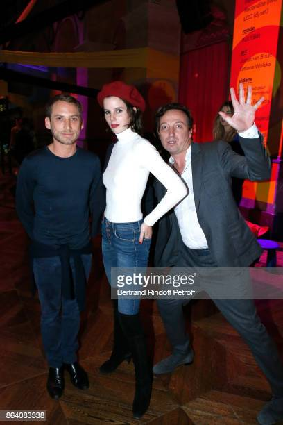 Ora Ito Alice GrenierNebout and Emmanuel Perrotin attend the 'Bal Jaune Elastique 2017' Dinner Party at Palais Brongniart during FIAC on October 20...