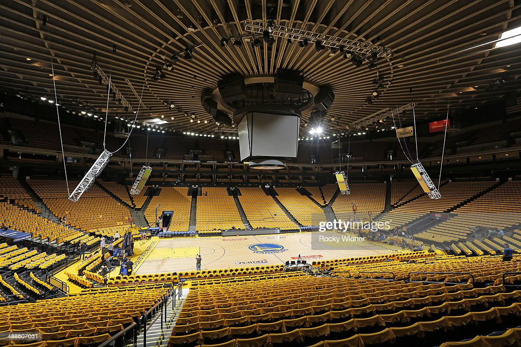 Oracle Arena prior to the game between the Los Angeles Clippers and Golden State Warriors in Game Six of the Western Conference Quarterfinals during the 2014 NBA Playoffs at Oracle Arena on May 1, 2014 in Oakland, California.