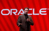 Oracle CEO Larry Ellison delivers a keynote address at the 2007 Oracle Open World conference November 14 2007 in San Francisco California Oracle Open...