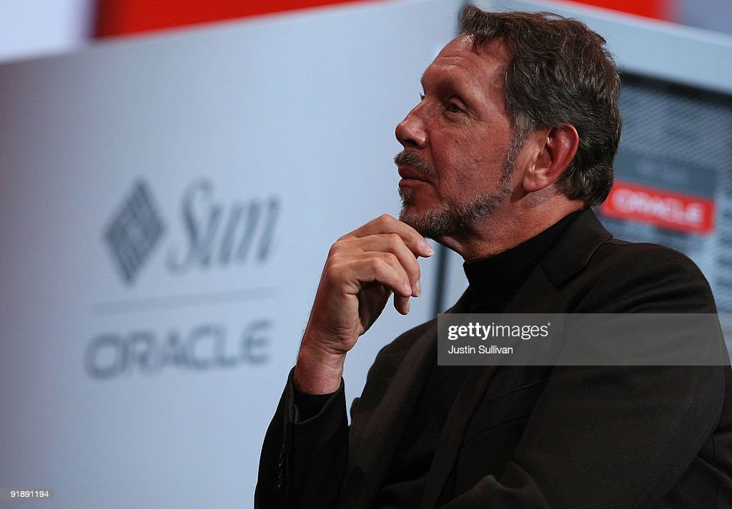 Oracle CEO <a gi-track='captionPersonalityLinkClicked' href=/galleries/search?phrase=Larry+Ellison&family=editorial&specificpeople=221302 ng-click='$event.stopPropagation()'>Larry Ellison</a> watches a demonstration during his keynote address at the 2009 Oracle Open World conference October 14, 2009 in San Francisco, California. Ellison kicked off the conference, which runs through October 15.