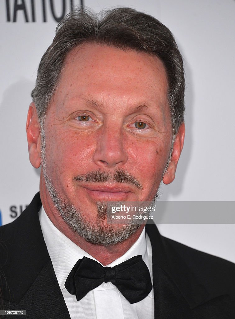 Oracle Corp. CEO Larry Ellison arrives to the 10th Annual Living Legends of Aviation Awards at The Beverly Hilton Hotel on January 18, 2013 in Beverly Hills, California.
