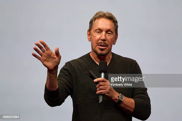 Oracle Executive Chairman of the Board and Chief Technology Officer Larry Ellison delivers a keynote address during the 2014 Oracle Open World...