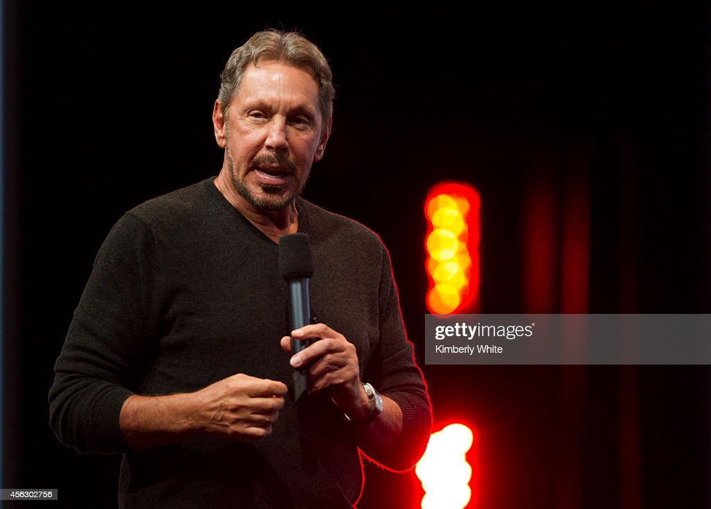 Oracle Executive Chairman of the Board and Chief Technology Officer, Larry Ellison, delivers a keynote address during the 2014 Oracle Open World conference on September 28, 2014 in San Francisco, California. Ellison kicked off the week-long Oracle Open World conference that runs through October 2.