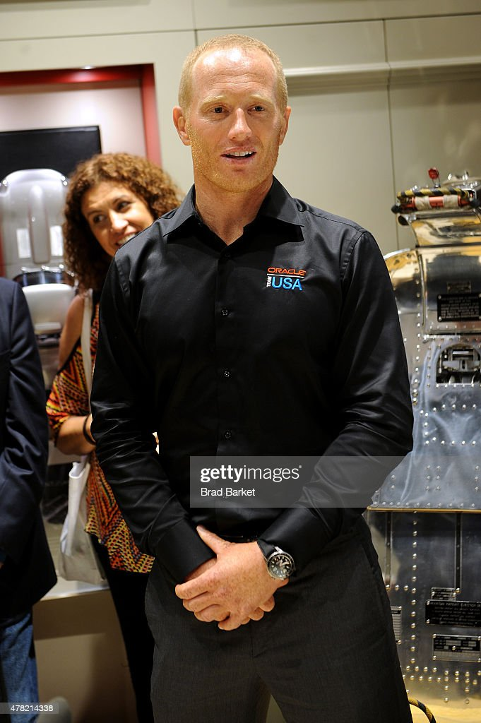 Oracle Team USA member Jimmy Spithill attends Bremont Watches NYC Boutique opening with unveiling of America's Cup at Bremont Boutique on June 23...