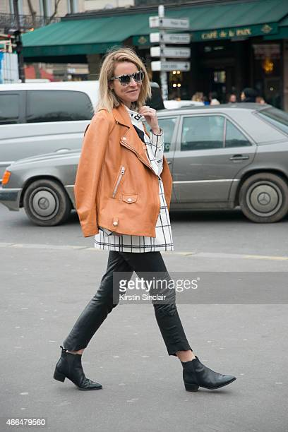 Oraclefoxcom writer Amanda Shadforth wears Nick Campbell sunglasses on day 7 of Paris Collections Women on March 09 2015 in Paris France