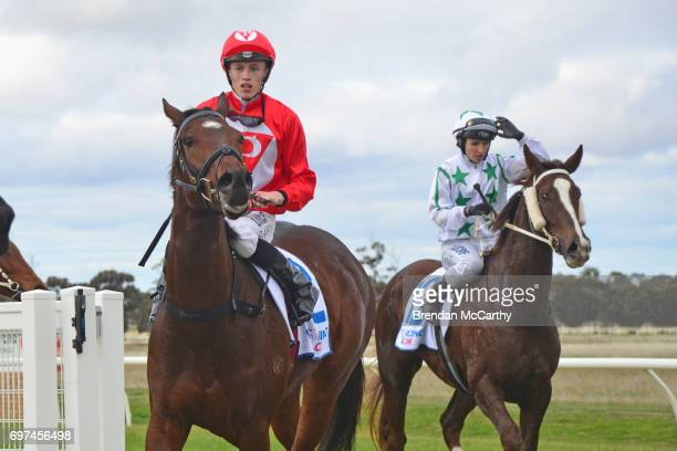Orakei Overlord ridden by Ben Allen returns to the mounting yard after winning the Weirâs IGA Donald Maiden Plate at Donald Racecourse on June 19...