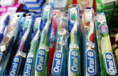 OralB toothbrushes made by the Gillette Co are seen on display at the Arguello Supermarket January 28 2005 in San Francisco Procter Gamble Co...