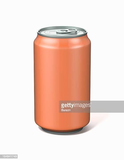 Orange Aluminium Soda Can