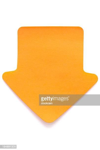 Flèche Orange Post-it