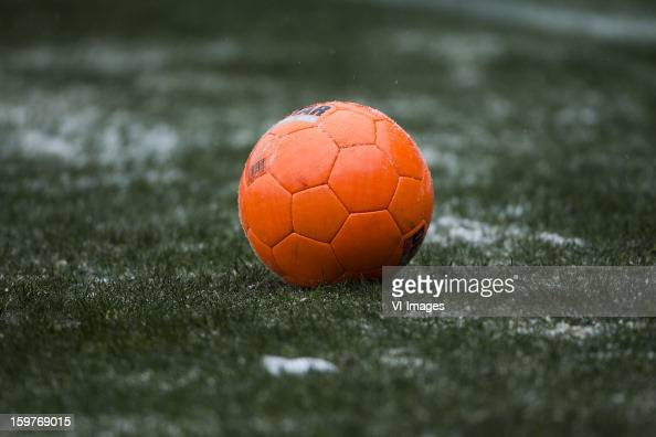 Orange Ball during the Dutch Eredivise match between Willem II and ADO Den Haag at the Koning Willem II Stadium on January 20 2013 in Tilburg The...