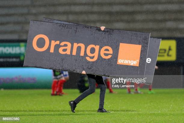 Orange Banner during the Ligue 1 match between Angers SCO and Montpellier Herault SC at Stade Raymond Kopa on December 9 2017 in Angers