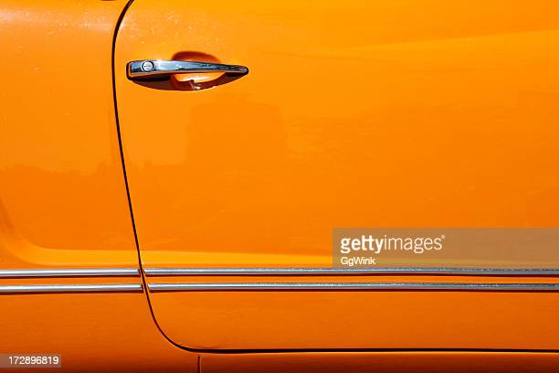 Orange Car Door of VW Karmann-Ghia