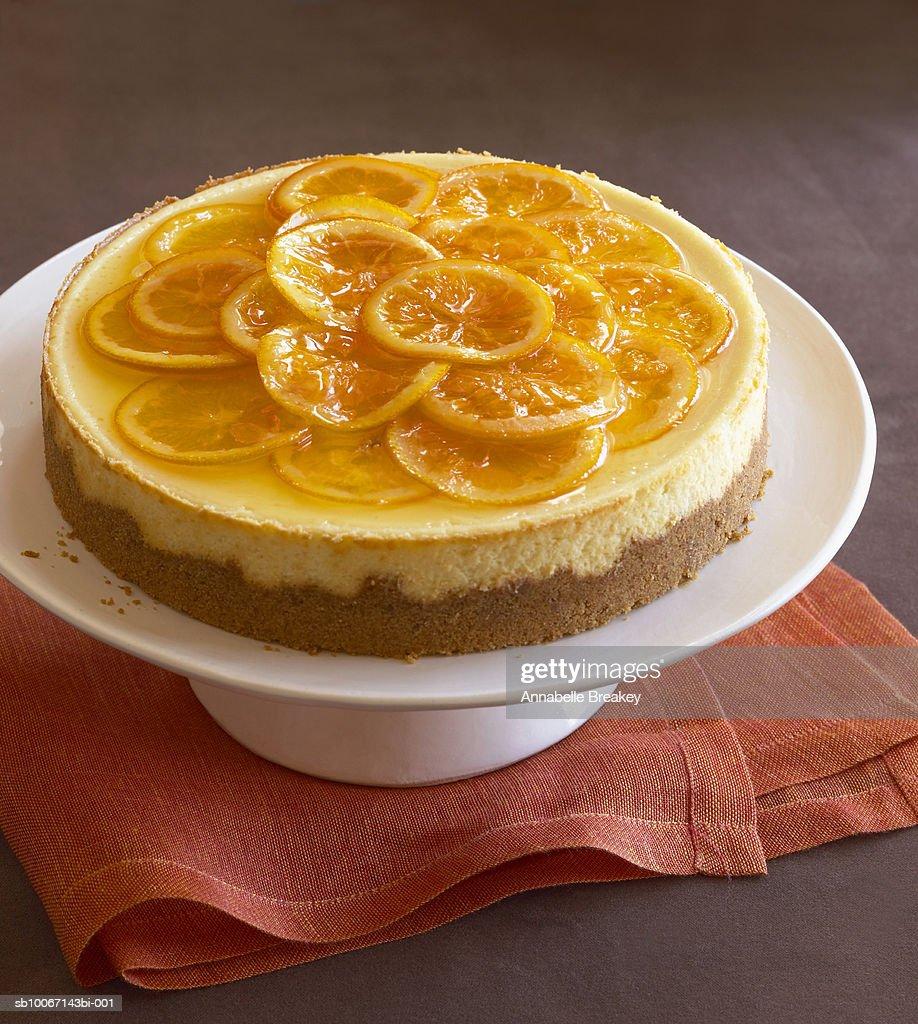 Orange cheesecake : Stock Photo