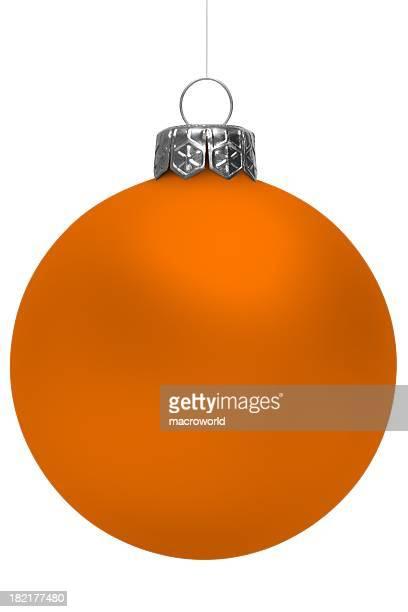 Orange Christmas Ball Isolated On White