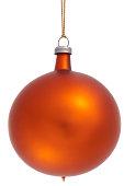 Orange Christmas Bauble