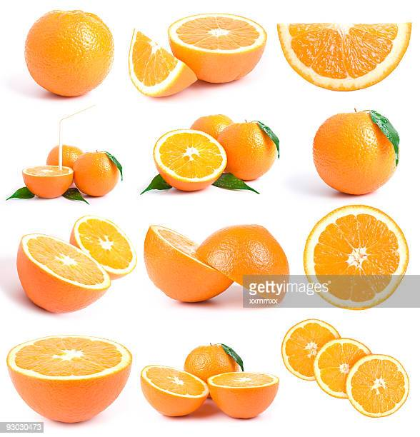orange collection w clipping path