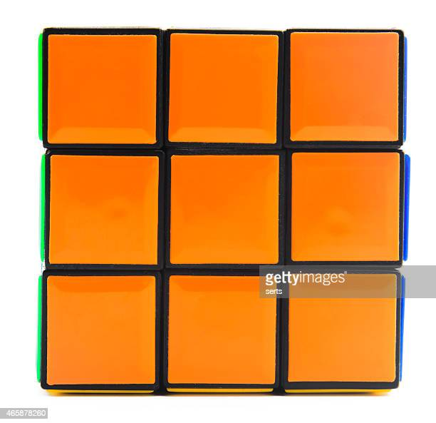 Orange color side of Rubik's Cube