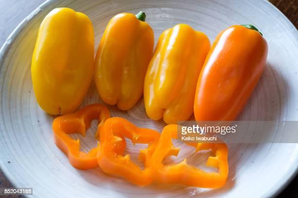Orange colored paprika