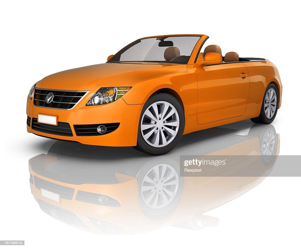 orange une voiture d capotable photo getty images. Black Bedroom Furniture Sets. Home Design Ideas