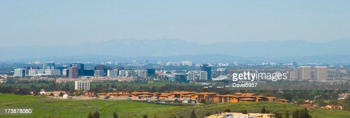 Orange County city skylines view