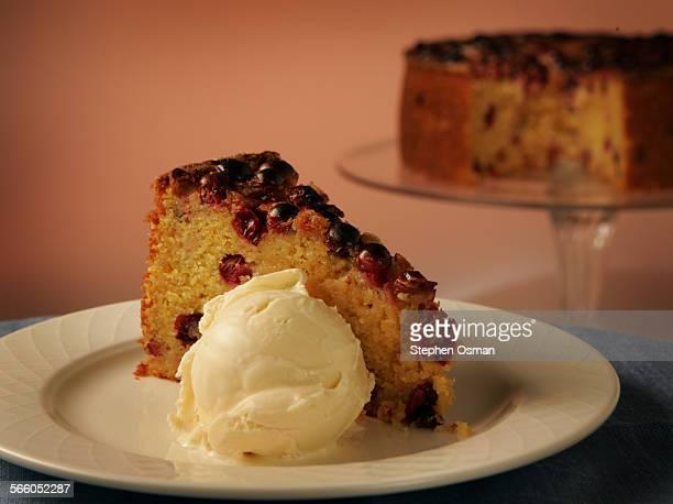 Orange cranberry cornmeal cake