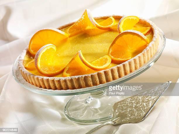 Orange custard tart