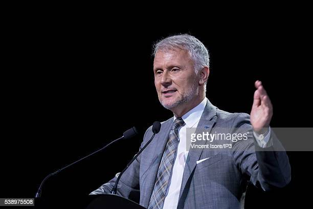 Orange Deputy Chief Executive Officer Executive Director in charge of European Operations Gervais Pellissier speaks during the general shareholders...