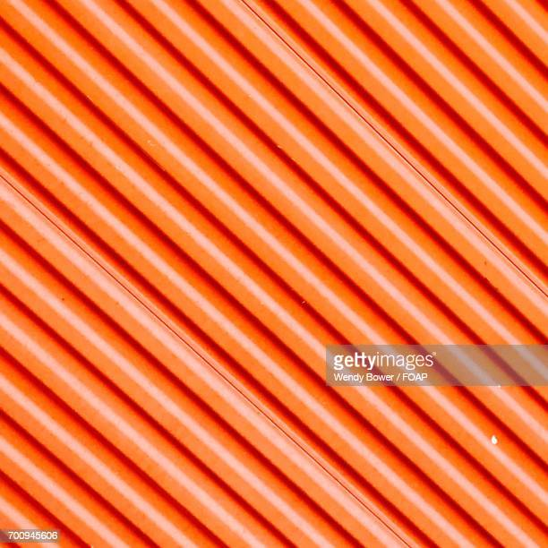 Orange Diagonal Design